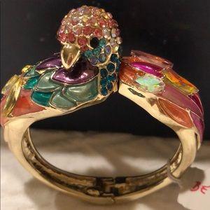 Betsy Johnson Parrot Hinge Bracelet NWT